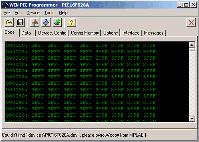 Screenshot WinPic Programmer