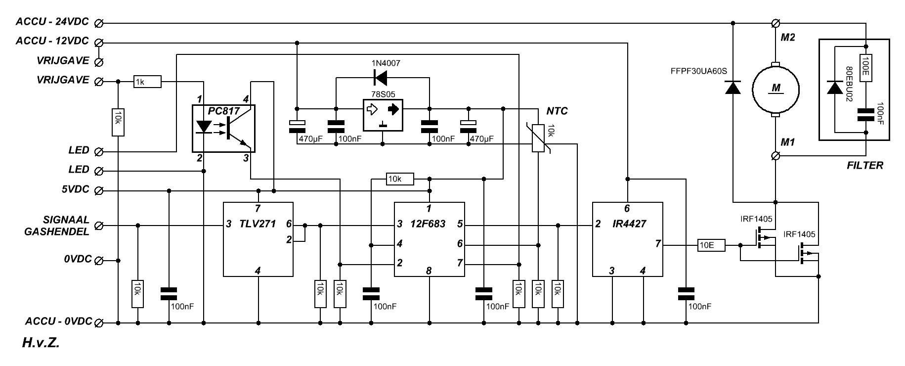 schema  u0026 print van de regelaar