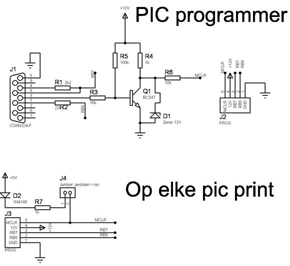icsp pic programmer met externe mclr voeding